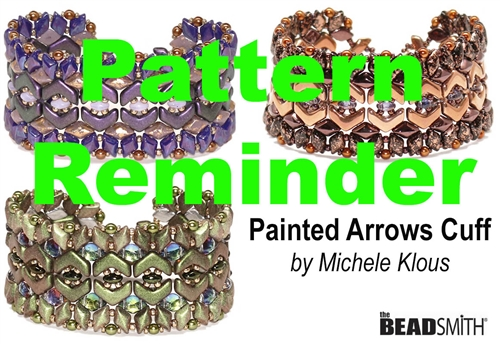 BeadSmith Exclusive Painted Arrows Cuff Pattern Reminder