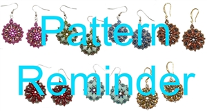 BeadSmith Exclusive Bead Primrose Earrings Pattern Reminder