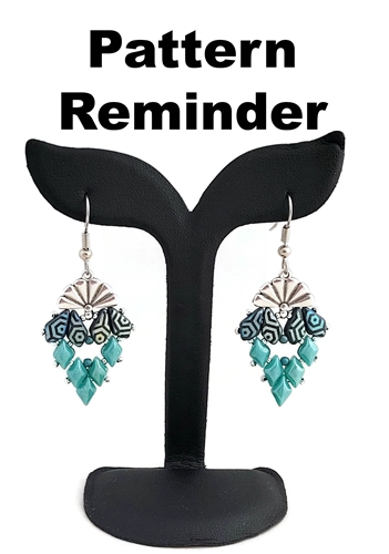 BeadSmith Exclusive Sitia Diamond Earrings Pattern Reminder