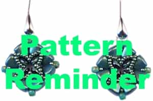 BeadSmith Exclusive Bead Timbuktu Earrings Pattern Reminder
