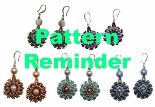 BeadSmith Exclusive Trifinity Earrings Pattern Reminder