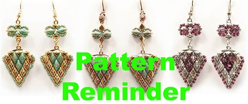 BeadSmith Exclusive Vani Splash Earrings Pattern Reminder