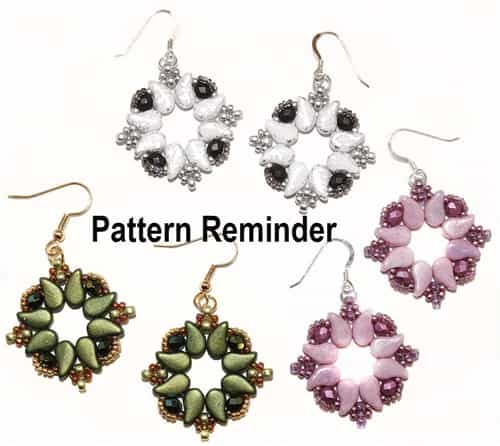 BeadSmith Exclusive Venezia Earrings Pattern Reminder