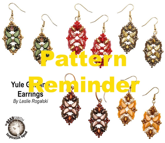 BeadSmith Exclusive Yule Garland Earrings Pattern Reminder