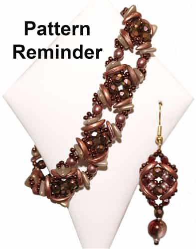 BeadedTreasury Crescent Squares Bracelet Pattern Reminder