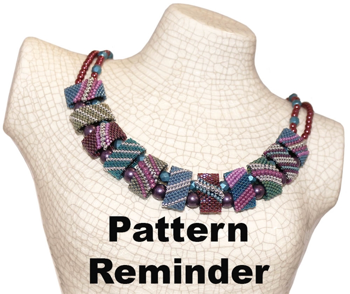 CarrierDuo Dusty Cornflower Necklace Pattern Reminder