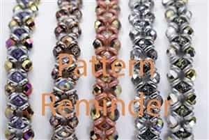 BeadSmith Exclusive Bead Pattern Crisscrossing Reminder