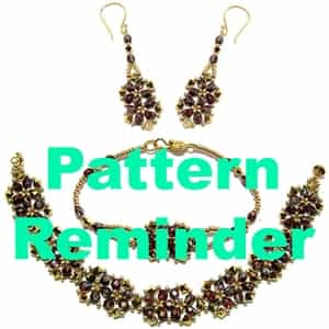 Deb Roberti's Baroque Bracelets & Earrings Pattern Reminder