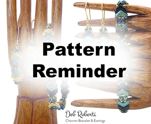 Deb Roberti's Chevron Bracelet & Earrings Pattern Reminder