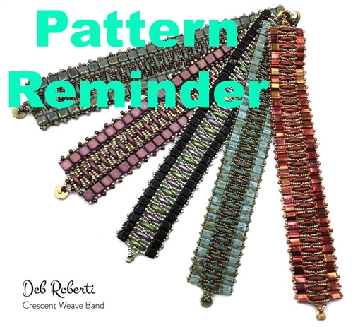 Deb Roberti's Crescent Weave Band Pattern Reminder