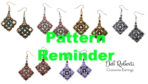 Deb Roberti's Crosswise Earrings Pattern Reminder