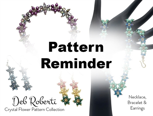 Deb Roberti's Crystal Flower Bracelet & Earrings Reminder