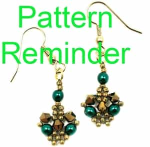 Deb Roberti's Betsy's Crystal Lace Earrings Pattern Reminder