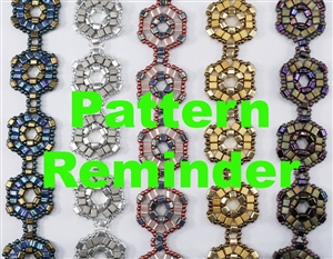 Deb Roberti's Cubism Bracelet & Earrings Pattern Reminder