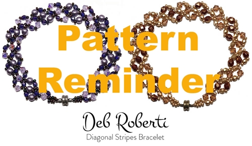 Deb Roberti's Diagonal Stripes Bracelet Pattern Reminder