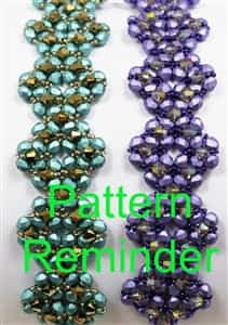 Deb Roberti's Diamond Crystal Bracelet, Pendant & Earrings Pattern Reminder