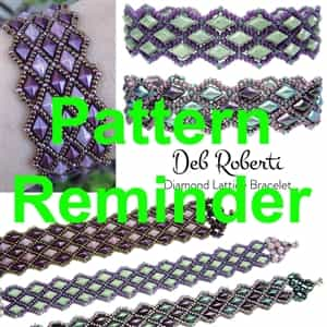 Deb Roberti's Diamond Lattice Bracelet Pattern Reminder