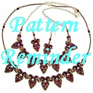 Deb Roberti's Drop Petal Necklace & Earrings Pattern Reminder