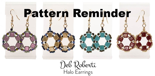 Deb Roberti's Halo Earrings Pattern Reminder