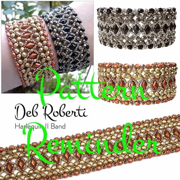 Deb Robertis Harlequin II Bracelet Pattern Reminder