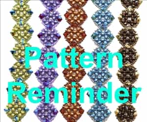 Deb Roberti's Isabella Bracelet, Pendant & Earrings Pattern Reminder