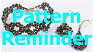 Deb Roberti's Moon RIng Bracelet & Earrings Pattern Reminder