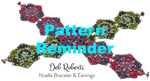 Deb Roberti's Noella Bracelet & Earrings Pattern Reminder