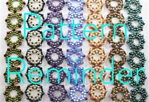 Deb Roberti's Octagonal Bracelet & Earrings Pattern Reminder
