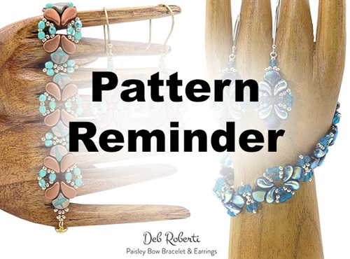 Deb Roberti's Paisley Bow Bracelet & Earrings Pattern Reminder