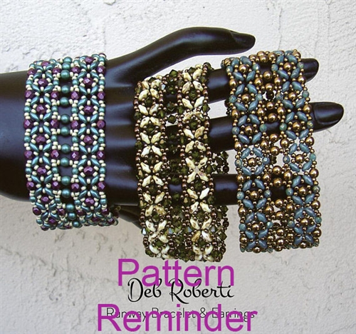 Deb Roberti's Runway Bracelet & Earrings Pattern Reminder