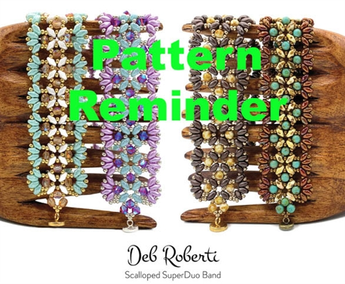 Deb Roberti's Scalloped SuperDuo Band Pattern Reminder
