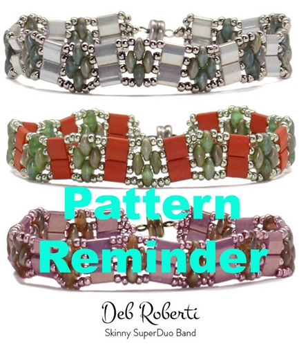 Deb Roberti's Skinny SuperDuo Band Pattern Reminder