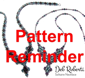 Deb Roberti's Solitaire Necklace Pattern Reminder