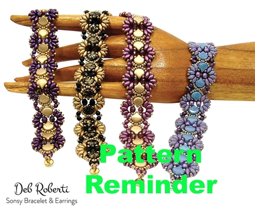 Deb Roberti's Sonsy Bracelet & Earrings Pattern Reminder