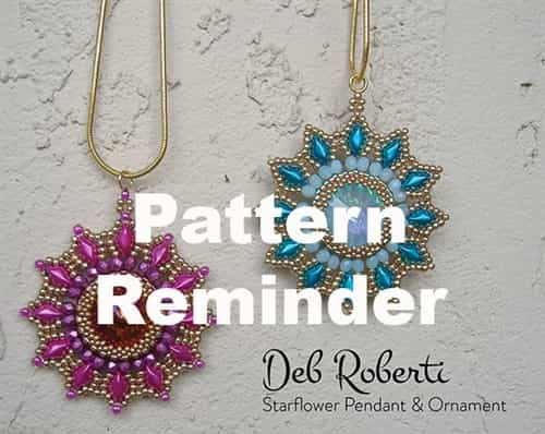 Deb Roberti's Starflower Ornament Pattern Reminder