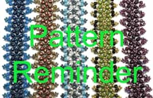 Deb Roberti's Victorian Bracelet & Earrings Pattern Reminder