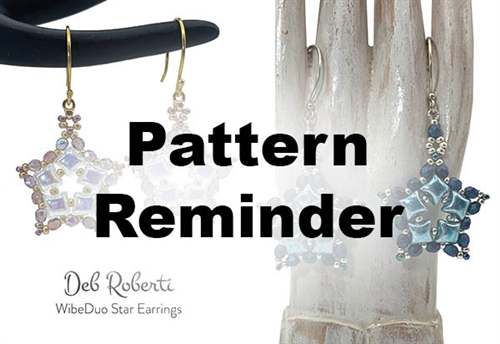 Deb Roberti's WibeDuo Star Earrings Pattern Reminder