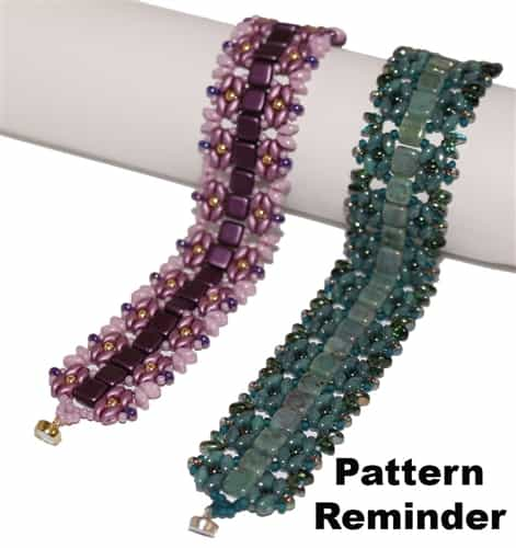 Facet Fan Favorite Bracelet Pattern Reminder