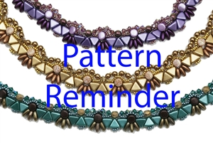 BeadSmith Exclusive Bead Pattern Felie Collar Reminder