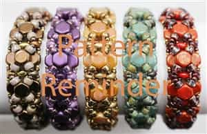 BeadSmith Exclusive Bead Pattern Honeycomb Bangle Reminder
