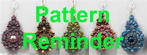 BeadSmith Exclusive Bead Kashmir Earrings Pattern Reminder