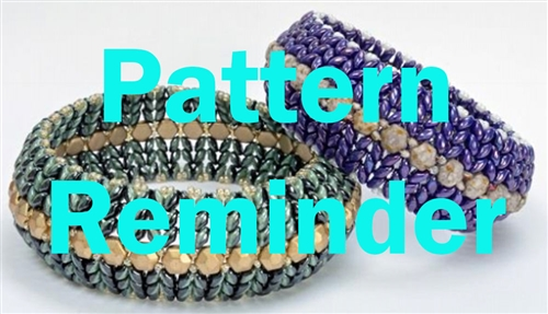 BeadSmith Exclusive Bead SuperDuo Honeycomb Bangles Pattern Reminder