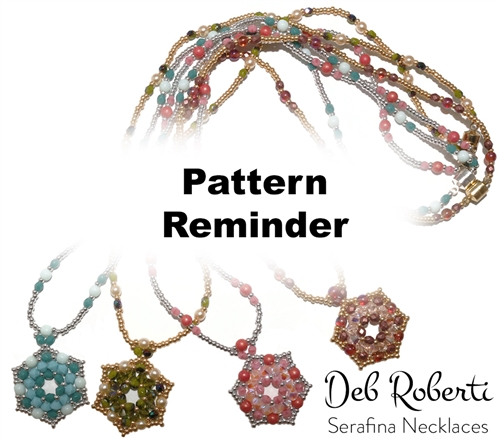 Deb Roberti's Serafina Bracelet, Earrings & Necklace Pattern Reminder