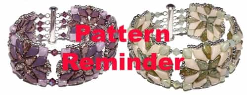 So Sassy Quilted Kite Bracelet Pattern Reminder