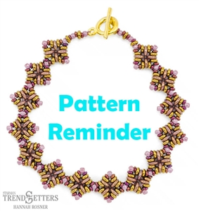 Starman Autumn Wheat Shoals Bracelet Pattern Reminder