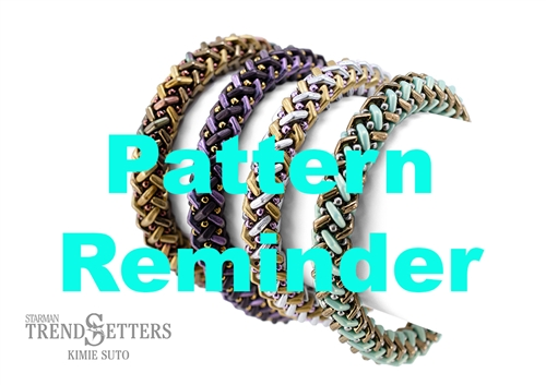 Starman Basket Weave Bracelet Pattern Reminder