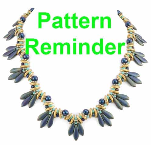 Starman Bird's Tail Necklace Pattern Reminder