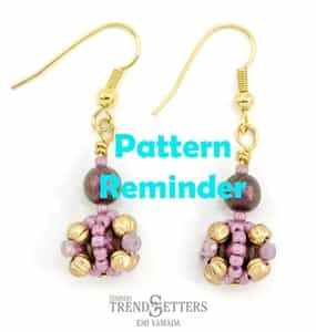 Starman Bon Bon Earrings Pattern Reminder