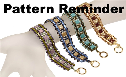 Starman Brick & Tile Ladder Bracelet Pattern Reminder