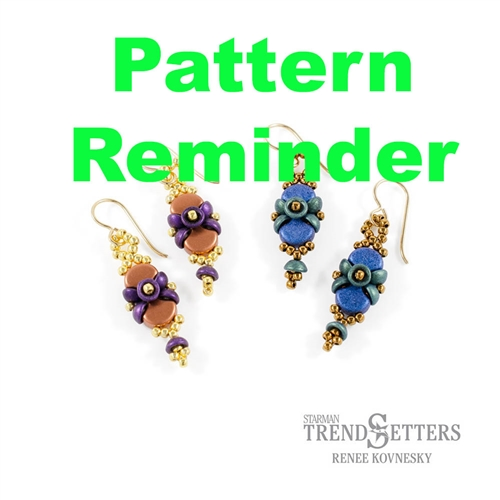 Starman Buttons & Bows Earrings Pattern Reminder